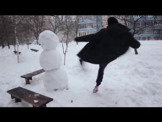 Как отпздить снеговика!