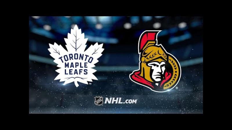 НХЛ регулярный чемпионат Оттава Сенаторз Торонто Мэйпл Лифс 3 4 0 1 3 0 0 3