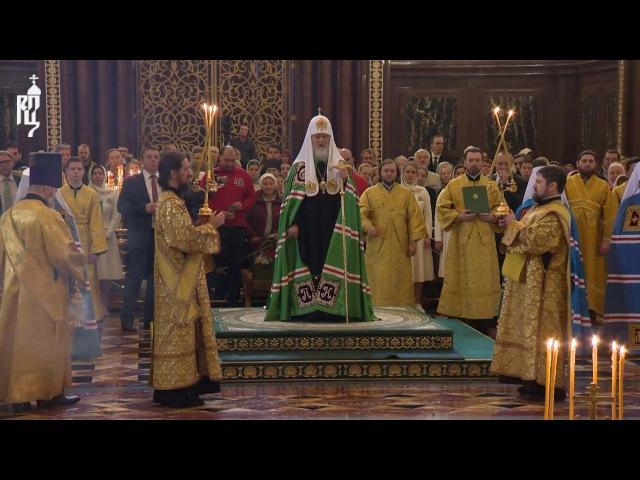 В день своего рождения Патриарх Кирилл совершил Божественную литургию в Храме Христа Спасителя
