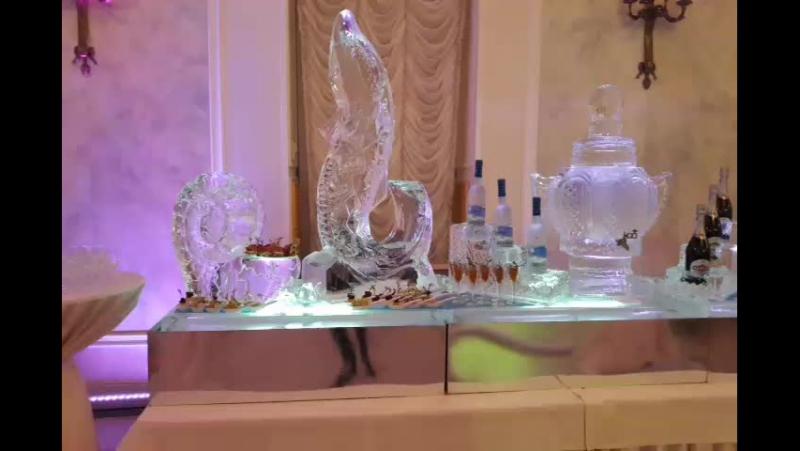 Фуршетный ледяной стол для юбиляра в Летнем дворце от MariaCrystalIce 7-905-204-77-53