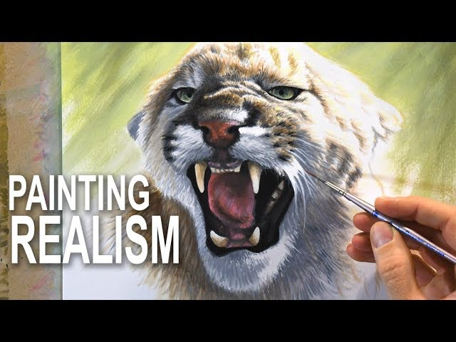 How To Paint Fur and Realism - Mixed-media
