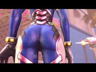 SFM Giantess Butt Crush   Dva's NERF THIS