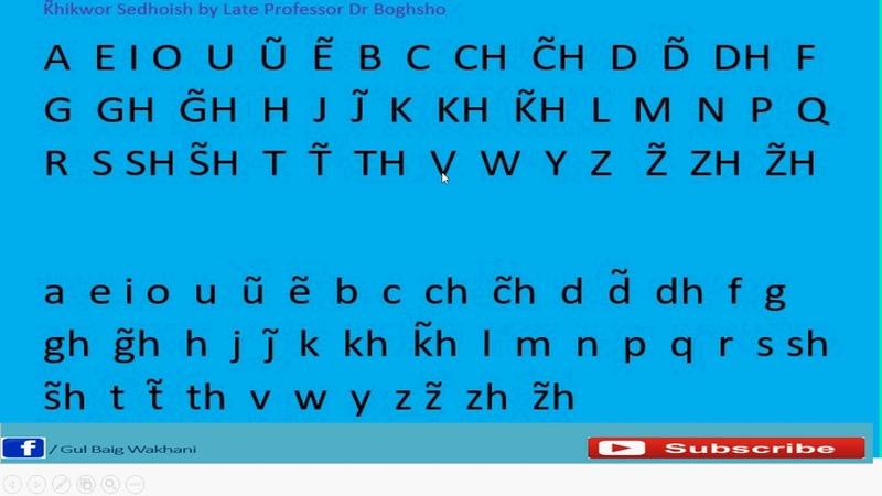 Один из вариантов алфавита для ваханского языка / Wakhi Rasmulkhat