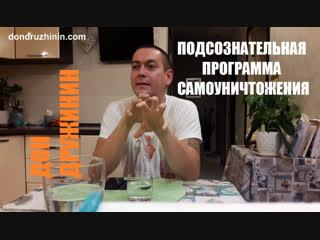 Дон Дружинин | Подсознательная программа Самоуничтожения