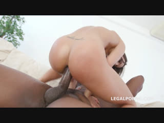 [legal ass] kristy black double anal session deep anal, dap, big gapes