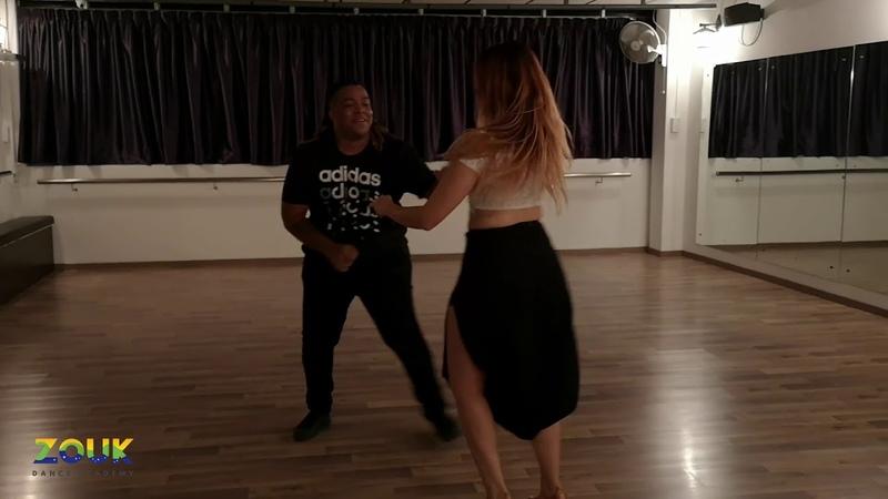 Val Clemente Vanessa Bonilha ZoukRUSH Nov 2018 at Zouk Dance Academy Sat party improv