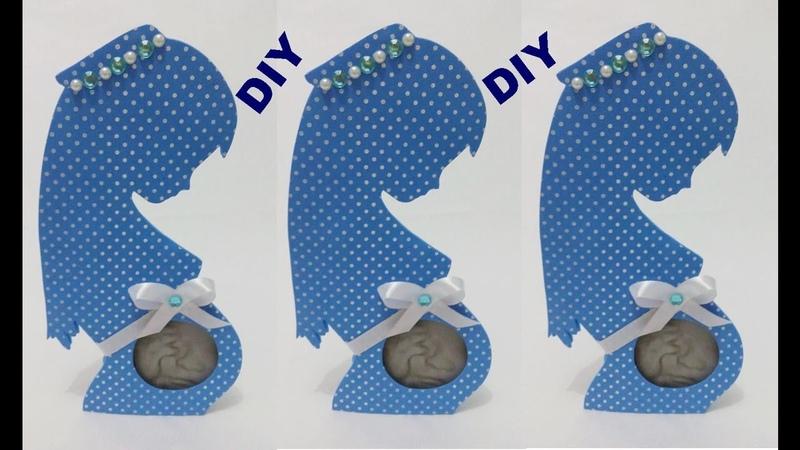 DIY porta retrato grávida para ultrassonografia