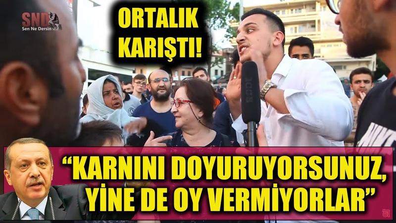 Erdoğan, Karnını doyuruyorsunuz, yine de oy vermiyorlar dedi, vatandaş birbirine girdi