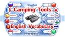Ders Kamp Araçları Resimlerle İngilizce Kelime Tercümanı Kelime Kitabı