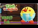 Yoshi wooly world 1-8 Восьмой уровень прекрасной игры под названием Burt the Bashful's Castle