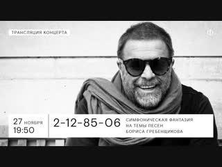 Трансляция концерта   Симфоническая фантазия на темы песен Бориса Гребенщикова