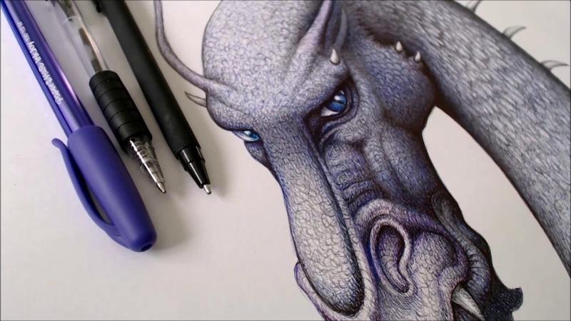 Drawing Saphira from the novel Eragon