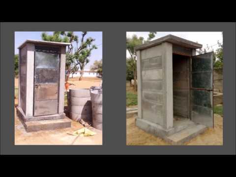 Precast concrete wall toilet