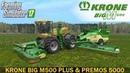 Farming Simulator 17 KRONE BIG M500 PLUS MOWER KRONE PREMOS 5000 BALER