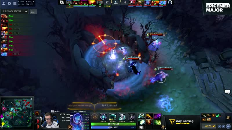 WTF JUST HAPPENED! MIRACLE- INSTANT KILL ROSHAN IN ONE SECOND WITH ARC WARDEN AT MIN 50 - EPIC DOTA