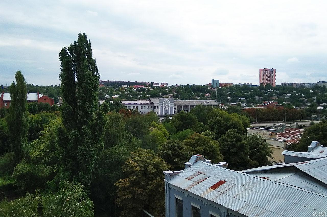 Город Луганск с пятого этажа ЦКБ
