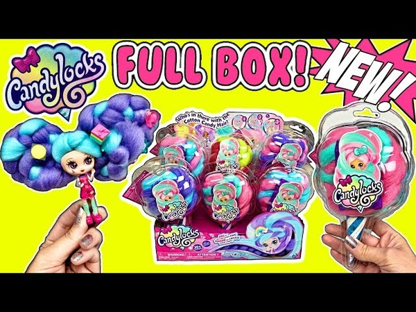CANDYLOCKS DOLLS W/ Scented Cotton Candy Hair! NEW Spinmaster Doll! Full Box Opening | Doll Video