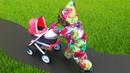 Коляска для кукол как у Miss Katy распаковываем/ собираем/ гуляем/ катаем Беби Бон Подарок девочкам