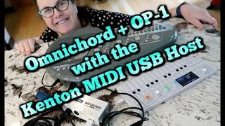 Omnichord & OP 1 with the Kenton MIDI USB Host