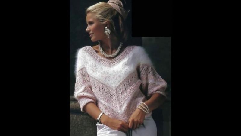 Женские вязаные свитера с мохера