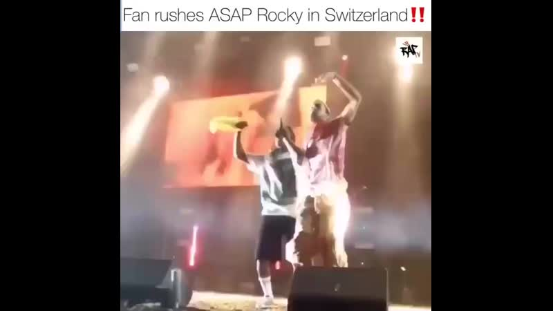Asap Rocky с фанатом
