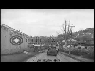 HD Stock Video Footage - A convoy of trucks carry Signal Corps equipment prior to the Yalta Conference in Crimea, Soviet Union d