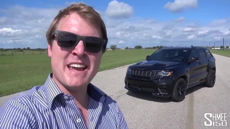 Внедорожник мощнее бугатти вейрон Jeep Trackhawk Hennessey 1000 л с
