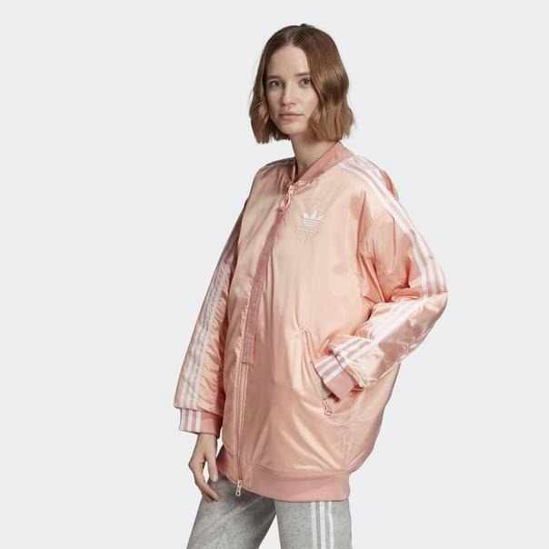 Удлиненная куртка-бомбер