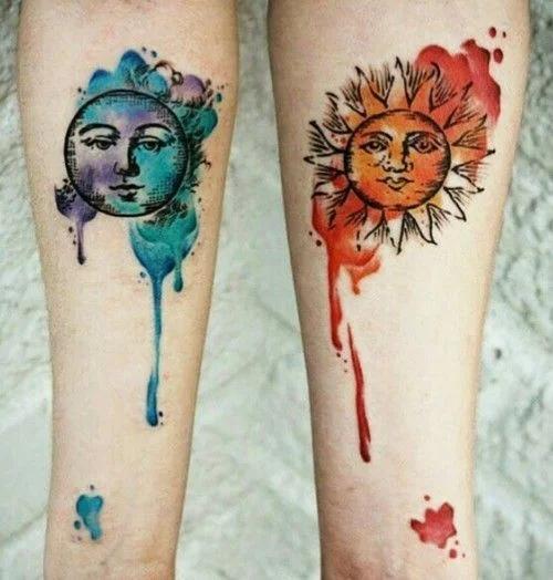 Парные тату для влюбленных: 50 отличный идей сказать, что вы вместе навсегда