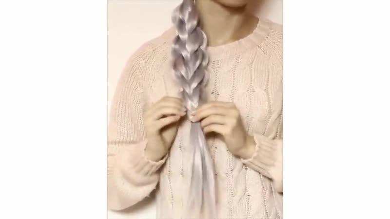 Два оригинальных способа заплести косу красиво