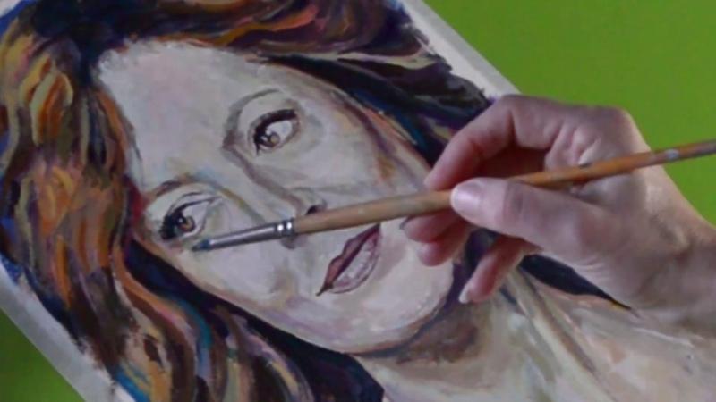 Dibujo de SUSAN SARANDON en acr lico