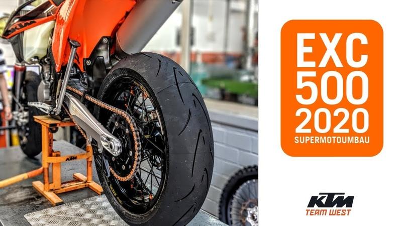 500 EXC 2020 SuperMoto Umbau
