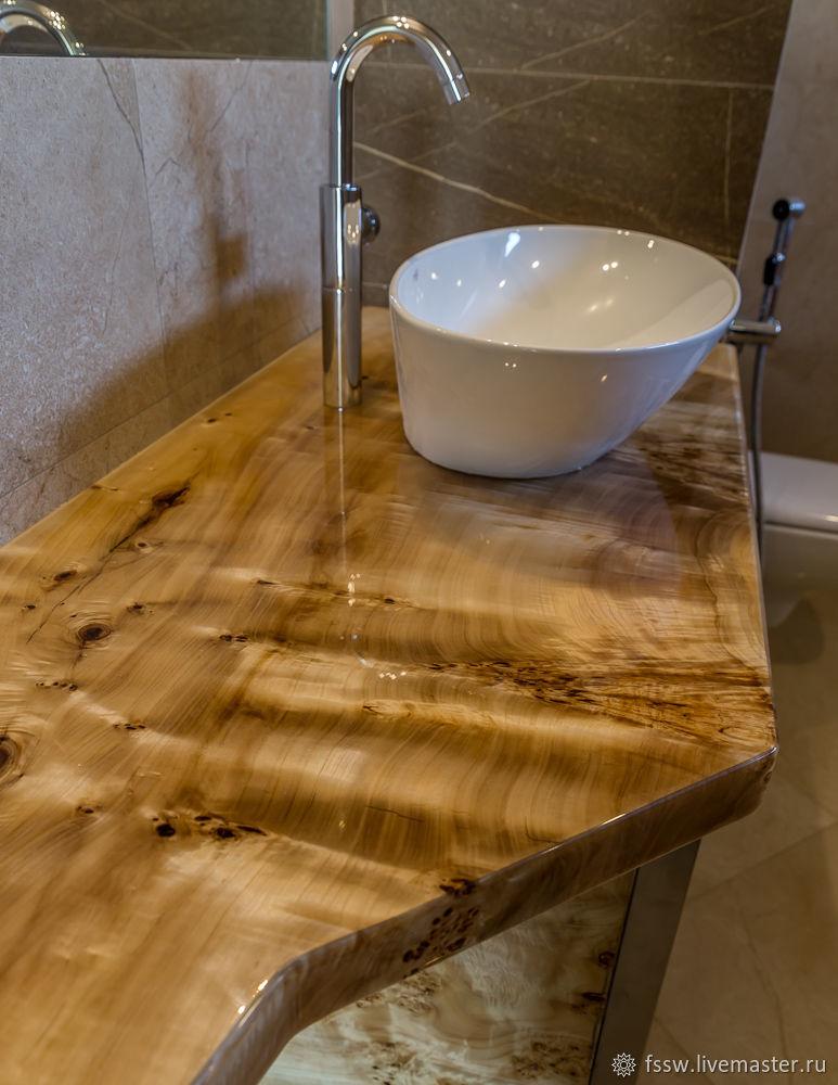 Столешница с тумбой в ванную комнату