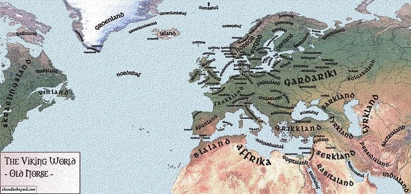 Старая карта викингов.