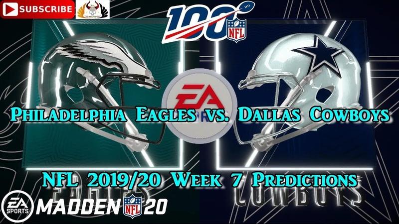 Philadelphia Eagles vs. Dallas Cowboys | NFL 2019-20 Week 7 | Predictions Madden NFL 20