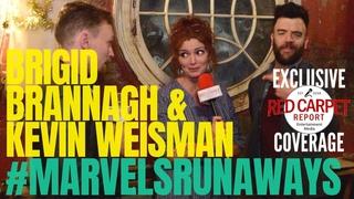 Brigid Brannagh & Kevin Weisman interviewed: #MarvelsRunaways cast/crew for Season 2 #setvisit #Hulu