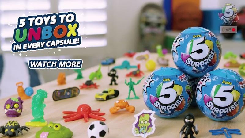Zuru • 5 Surprise Blue Toy Capsule • Unboxing 5 Surprises in One Blind