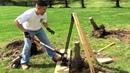 Remove tree stump with hi-lift jack