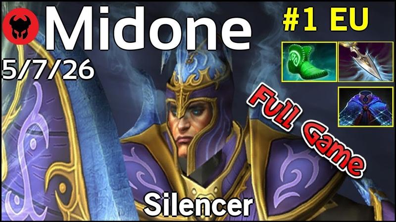 Support Midone [Secret] plays Silencer Dota 2 Full Game 7.19