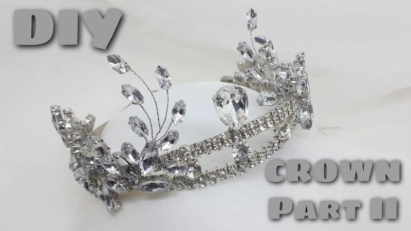 PART II   DIY   Tutorial how to make a crown / cara membuat mahkota pengantin yang mewah