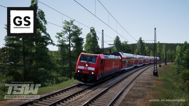 TSW Train Sim World Main Spessart Bahn 1 Рассеянный машинист
