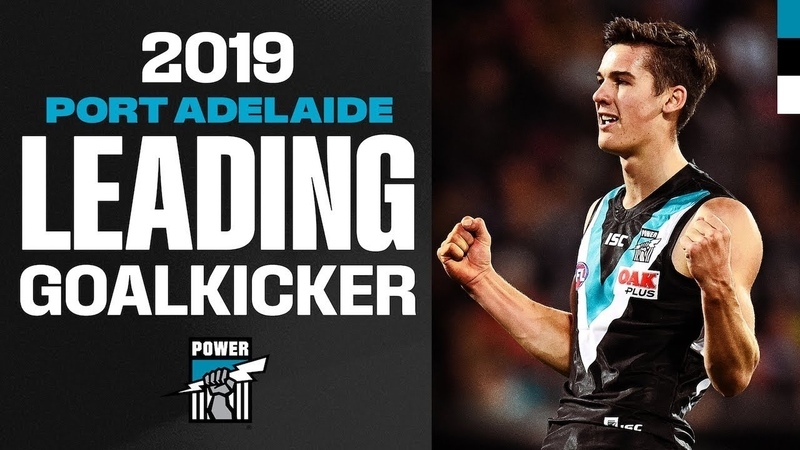 Every goal from Connor Rozee in 2019 | Leading Goalkickers | AFL