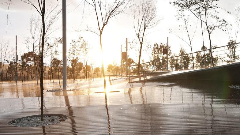 Public square in Mexico by architect Enrique Norten of TEN Arquitectos