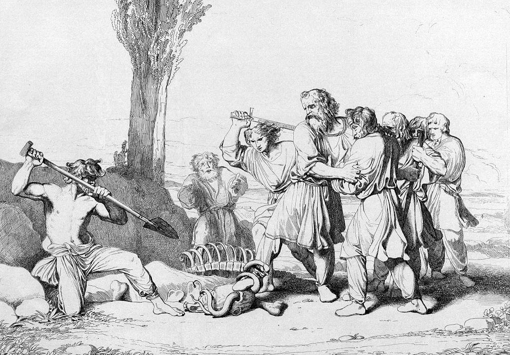 Кончина Олега. Гравюра Ф. А. Бруни, 1839