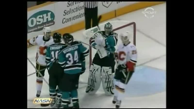 22 04 2008 ⅛ SC game 7 San Jose Sharks vs Calgary Flames