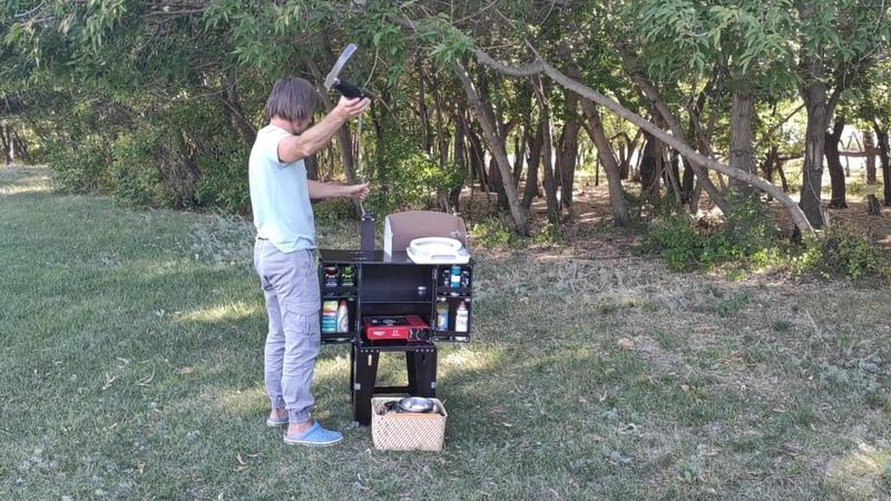 Кухня походная туристическая с мойкой и кран-помпой - Chuck Box