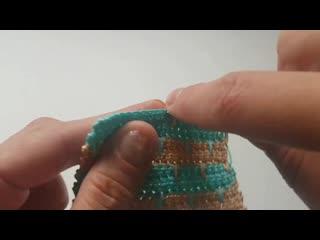 Вязание крючком с эффектом тканого полотна для пледов