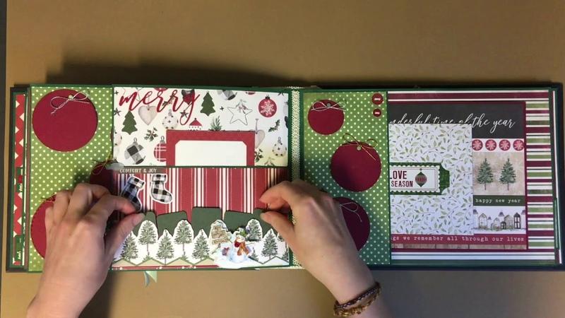 Simple and cosy Christmas scrapbook / Простой и уютный новогодний альбом (sold)