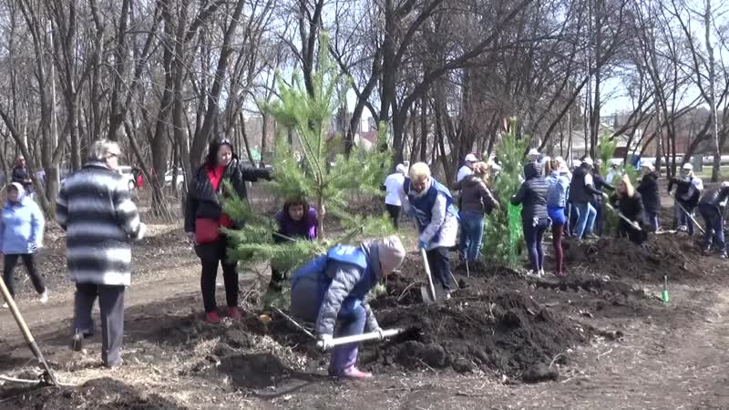 Акция Зеленая Башкирия посадка деревьев в Баланово 27 апреля 2019г
