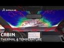 Cabin Thermal Flow and Temperature | SIMULIA PowerFLOW